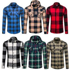 Bolf-Hombre-Camisa-de-franela-Casual-Camiseta-Lenador-MIX-2b-2-CUADROS