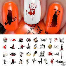 Halloween Nail Art Decals Waterslide Decals Set #4