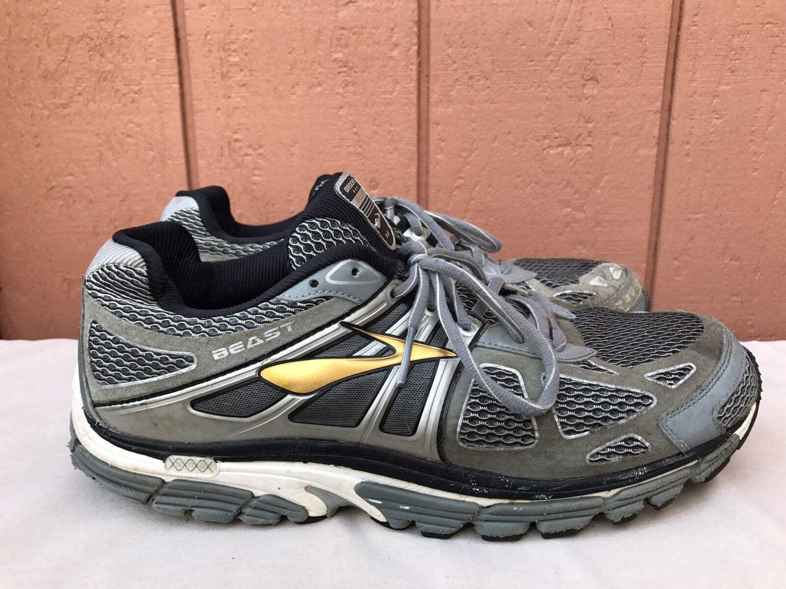 Brooks bestia 14 uomini scarpe da scarpe corsa scarpe da argento / oro noi 12,5 4e 200bd7