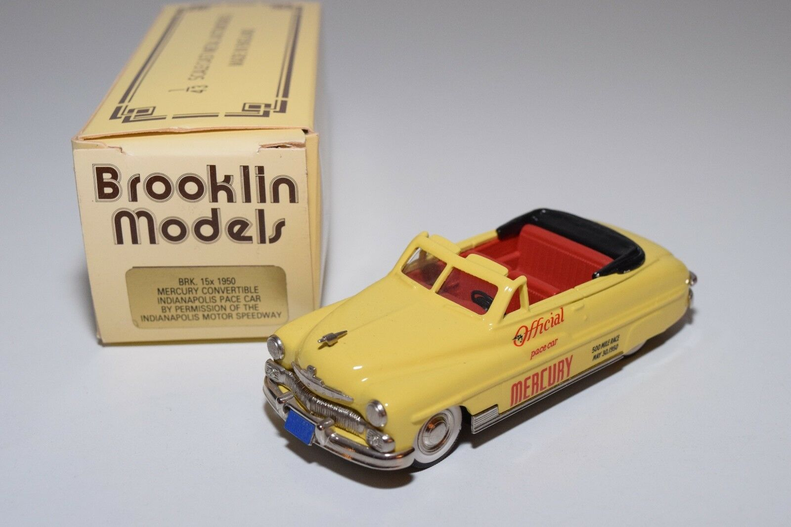 BROOKLIN BRK 15X 15 X 1950 MERCURY CONverdeIBLE INDIANAPOLIS PACE CAR MINTBOXED