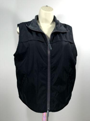Catalina Women's Fleece Vest Black Gray Reversible