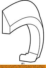 08-12 JEEP LIBERTY WHEEL FENDER FLARE MOLDING REAR LEFT MOPAR 1CK85TZZAD