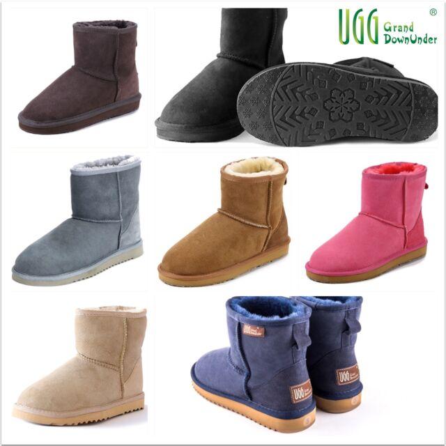 c6df15e8fa4 UGG Boots100% Australian Twinface Sheepskin Premium classical Mini 1/2  Unisex