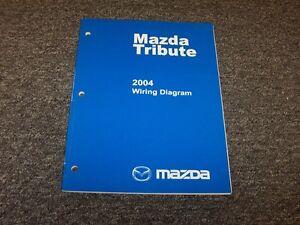 2004 Mazda Tribute SUV Electrical Wiring Diagram Manual DX ...
