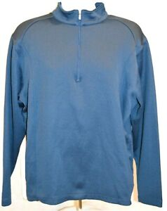 Nike-Men-039-s-1-4-Zip-Golf-Long-Sleeve-Pullover-Sweatshirt-Size-Large-Color-Blue