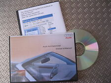AUDI A4 CABRIOLET CONVERTIBLE OWNERS HANDBOOK MANUAL 2002 03 04 05 06  2007