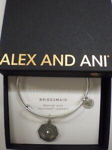 Alex-and-Ani-BRIDESMAID-Bangle-Bracelet-Rafaelian-Silver-New-W-Tag-Box-Card