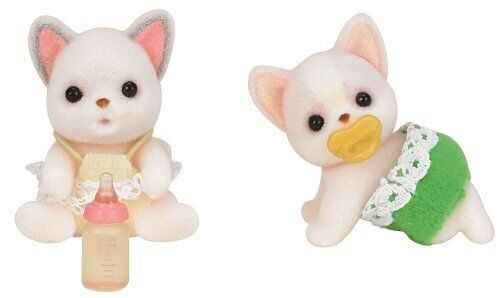 Epoch Calico Critters dolls Chihuahua twins i 97