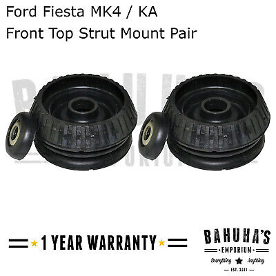 FOR FORD FIESTA MK4 KA COURIER FRONT SUSPENSION TOP STRUT MOUNTS /& BEARINGS PAIR