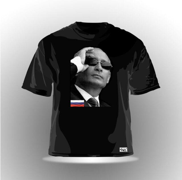 EAKS® HERREN T-SHIRT WLADIMIR PUTIN Schwarz #3 Russland Russia Moskau Kreml