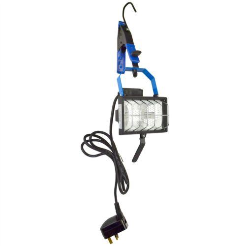 Portable Hanging Work Light Floodlight Halogen Adjustable Garage 150W SIL0