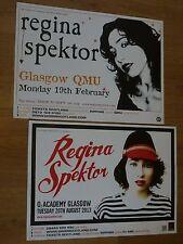 Regina Spektor - Scottish tour Glasgow concert gig posters x 2