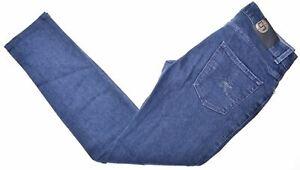 Trussardi-Damen-Jeans-w25-l30-dunkelblau-Baumwolle-Slim-Fit-ek03