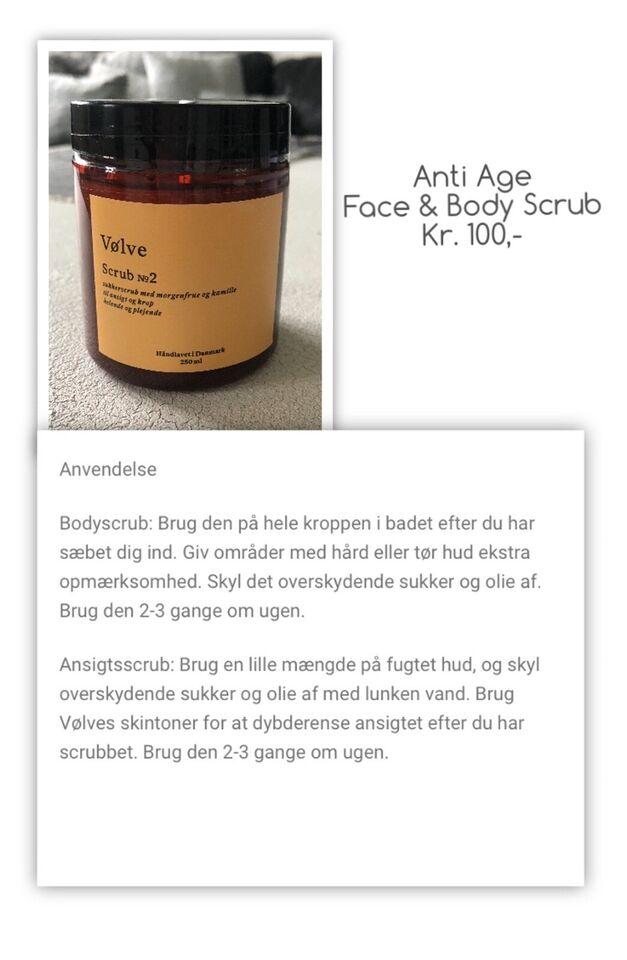 Hudpleje, Face & Body Scrub , Vøvle