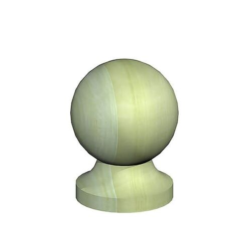 """2/"""" Wooden Ball Finials for 50mm Square Fence Posts Pressure Treated"""