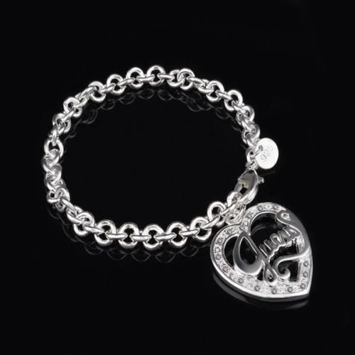 "Unique /& Elegant 925 Sterling Silver Love Heart Style 8/"" Bracelet"