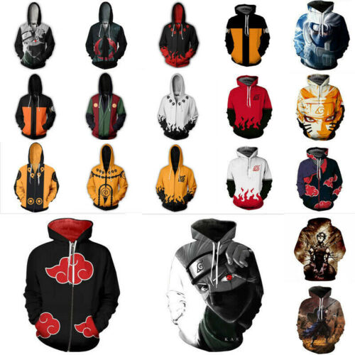 Naruto0 Anime Hoodie Cosplay Costume Kakashi 3D Print Women Men Sweatshirt Tops