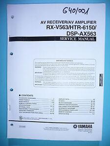 LiebenswüRdig Service Manual-anleitung Für Yamaha Rx-v563/htr-6150/dsp-ax563,original Tv, Video & Audio