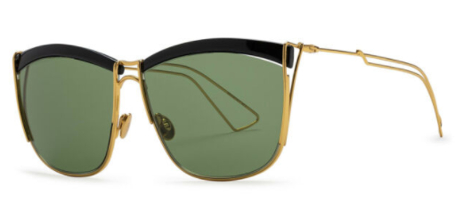 *NEW AUTHENTIC* DIOR SO ELECTRIC/S 0MY2 Black/Gold/DJ Green, SIZE 58