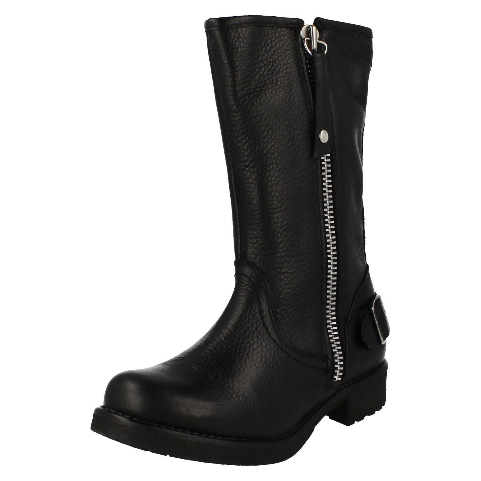 Grandes zapatos con descuento Damas baisley Cuero Negro Botas Estilo Motero por Harley-Davidson