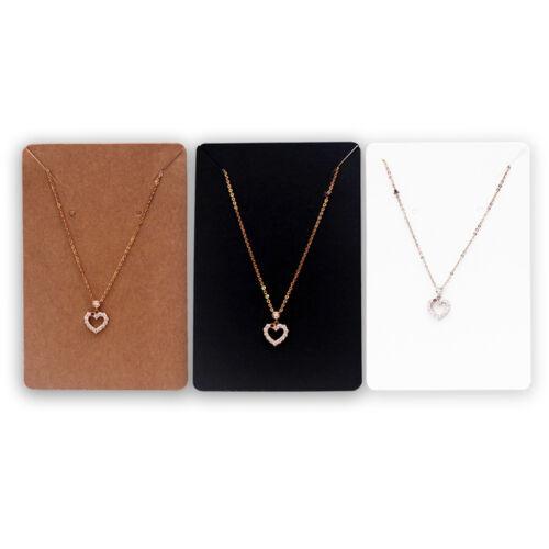 Bijoux Collier Bracelet Hanging Holder Jewerly Affichage Papier Carte Bricolage 100pcs