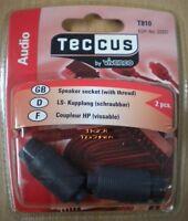 Teccus By Vivanco 2 Stück Ls-kupplung Lautsprecher Kupplung Schraubbar So66