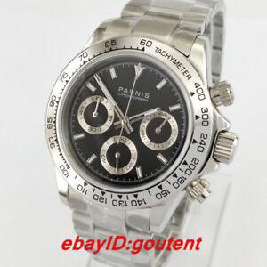 39mm-PARNIS-black-dial-sapphire-glass-full-Chronograph-quartz-steel-mens-watch