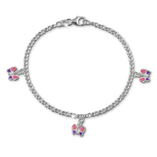SilberDream 15,5cm Kinder Armband Schmetterling Silber SDA011