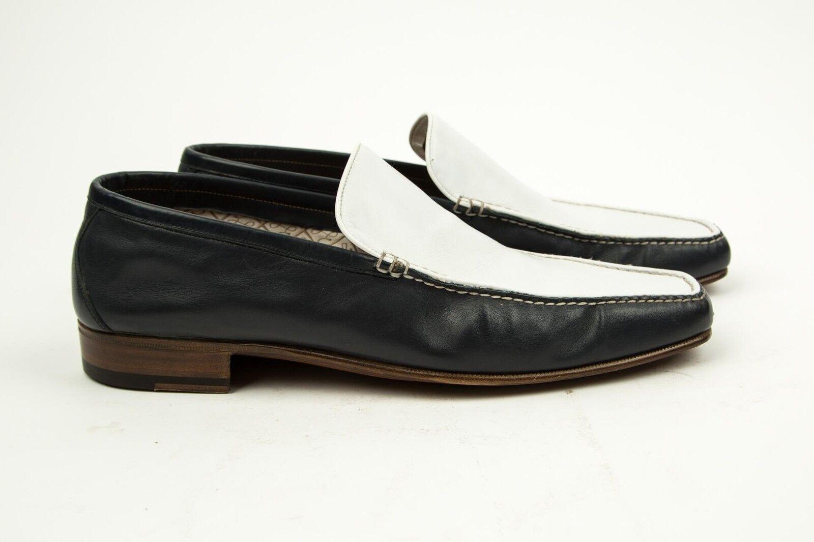 negozio di moda in vendita Brioni NUOVO Blu Bianco Contrasto Slip-On Mocassini Scarpe Scarpe Scarpe Eleganti 8.5 US 42 EU  ordina adesso