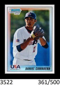 1-2010-BOWMAN-CHROME-REFRACTOR-DANIEL-CAMARENA-YANKEES-USA-500-QTY