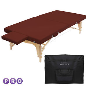 Details About Portable Physical Therapy Massage Table Stretching Treatment Burgundy