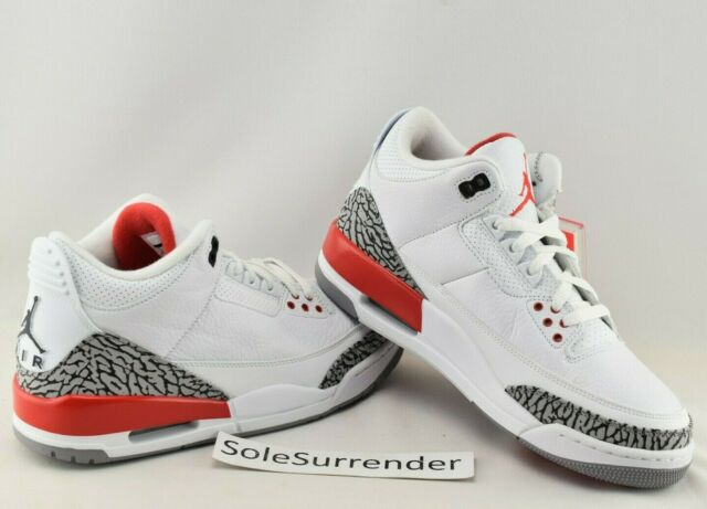 7bd5eacdcbc 2018 Air Jordan 3 Retro Hall of Fame Fire Red Cement 136064116 Size ...