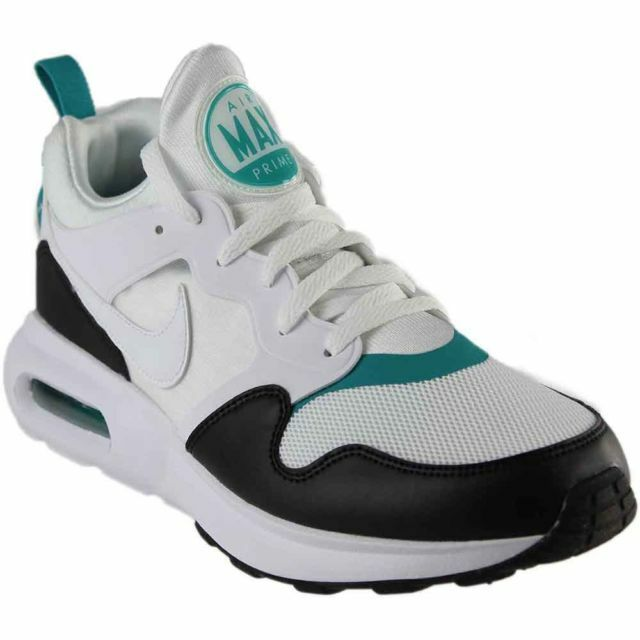 Nike Air Max Prime Running Shoes Mens Size 8 White Turbo Green Black