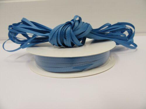 3mm 6mm 10mm 16mm 22mm 38mm 50mm CORNFLOWR BLUE Grosgrain Ribbon Double Ribbed
