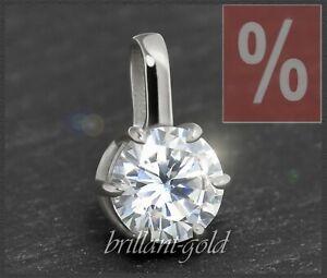 Diamant-Brillant-Anhaenger-1-10-ct-River-D-Si-585-Gold-Damenanhaenger-Gleiter