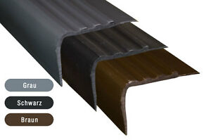 treppenkantenprofil kunststoff 100 cm treppenstufe kantenschutz treppenwinkel ebay. Black Bedroom Furniture Sets. Home Design Ideas