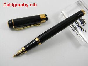 Baoer 500 Black Lacquered Golden Trim Calligraphy Nib
