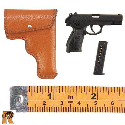 1//6 Scale Flagset Action Figures QSZ92 Pistol w// Holster PLA Female Pilot