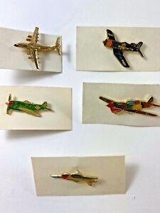 Vintage Plane Magnets Retro Bombers Airplane Pins Vintage Bombers Magnets 12 ct. Bomber Plane Flatbacks