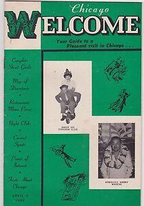 Details about APRIL 8 1950 CHICAGO WELCOME entertainment magazine BURLESQUE  - MUSIC