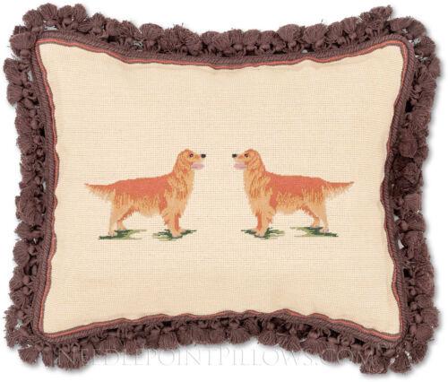 "Handmade Needlepoint Winter Holiday Pine Bouquet Christmas Pillow 16/"" x 20/""."