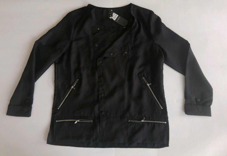 G - Star Damen Blause Shirt Größe L schwarz Neu mit Etikett.