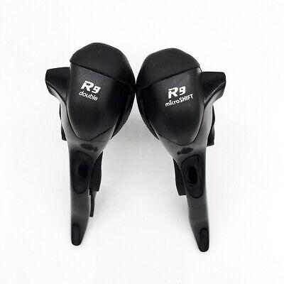 MicroSHIFT R9 Drop Bar Shift Levier Set 2 x 9-Vitesse Compatible Shimano noir