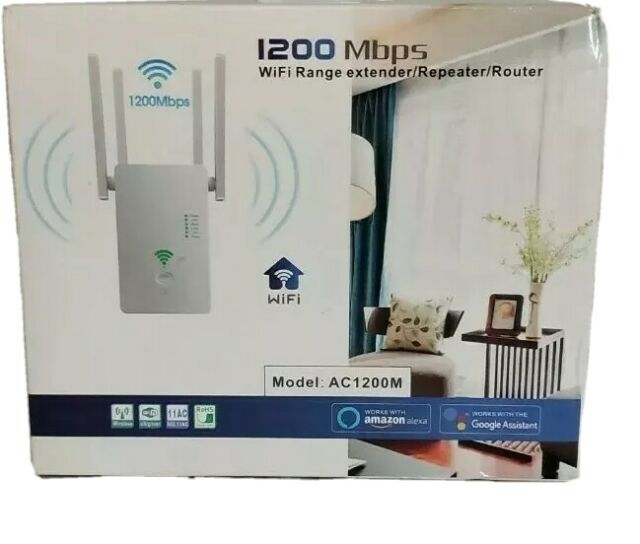 URANT WiFi Range Extender 1200Mbps 2.4 & 5GHz Dual Band with Ethernet Port