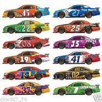 12 Speedway Racing Nascar Daytona Party Wall Decoration Race Car Add On Props