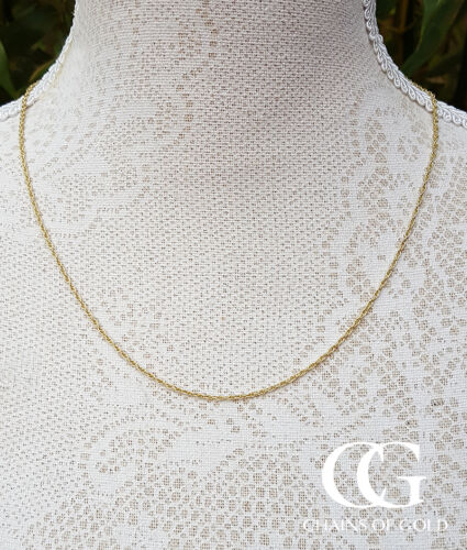 """Men/'s Ladies Solid 9ct Yellow Gold Prince of Wales Chain Necklace 18-24/"""""""