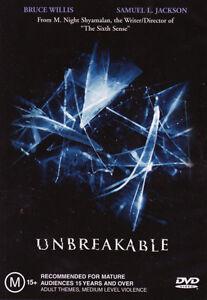Unbreakable-NEW-DVD-Bruce-Willis-Samuel-L-Jackson-M-Night-Region-4-Australia