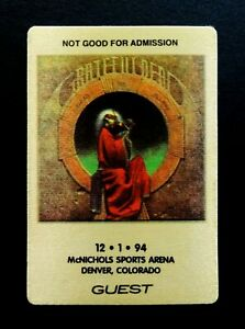 Grateful-Dead-Backstage-Pass-Denver-Colorado-12-1-94-12-1-1994-Blues-For-Allah