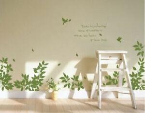 Bird Tree Branch Wall Art Stickers Vinyl Decal Removable Home Decor Mural Kids