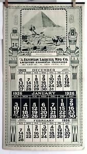 Calendrier Egyptien.Details Sur Vintage 1926 Calendrier Egyptien Laque Mfg Colorado 12 Pg Sphinx Pyramide Photogravure Afficher Le Titre D Origine